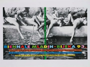Đanino Božić, Poster for the Biennale of Young Artists ­– Rijeka 93, 1993